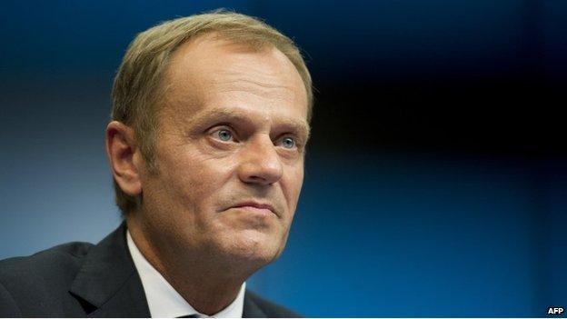 Donald Tusk lengyel miniszterelnök.