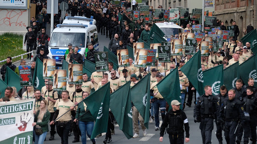 2019-es nacionalista felvonulás Kelet-Németországban. (AFP)