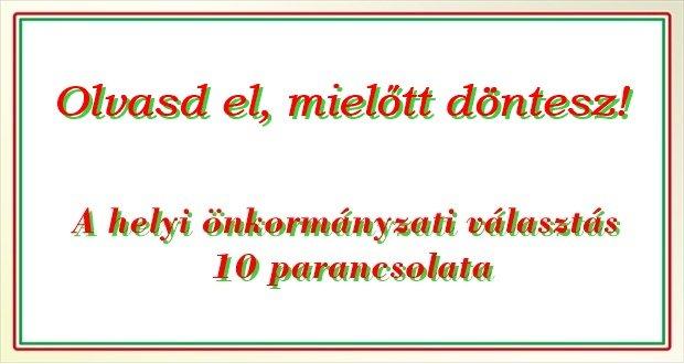 helyi-onkormanyzati-valasztas-tizparancsolata