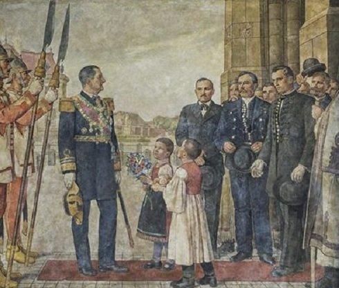 Horthy Miklóst ábrázoló falfestmény került elő a Kecskeméti Városházán