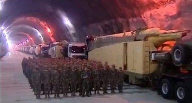 Irán- földalatti rakétabázis.