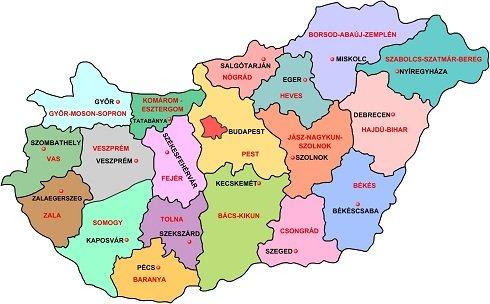 magyarország-megyéi
