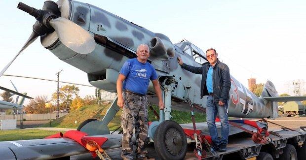 Krakkóból érkezett a Messerschmitt vadászrepülőgép Szolnokra