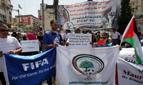 Palesztina fel akarja függesztetni Izrael FIFA-tagságát