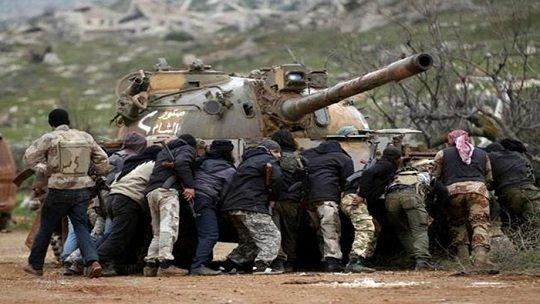 Front Nusra zsoldosai. | Fotó: The Daily Star