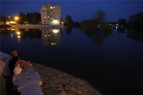 Tisza és Zagyva torkolatánál Szolnokon, 2013. április 22-én