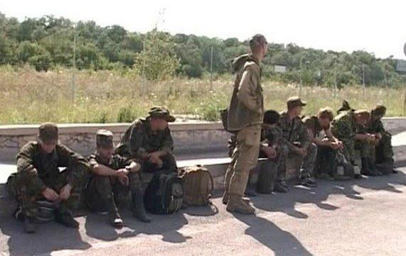 Dezertált ukrán katonák oroszföldön.