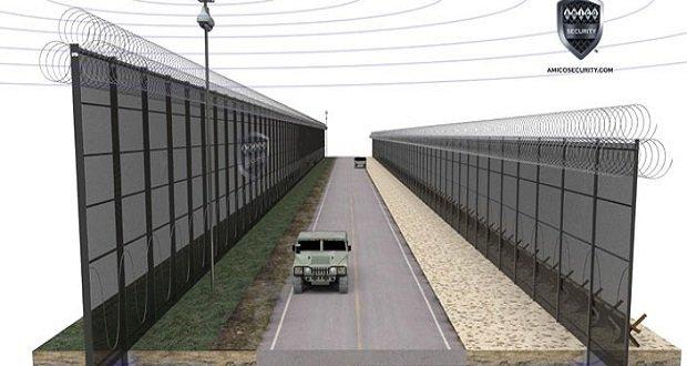 Az USA megerősíti határát Mexikó felé.